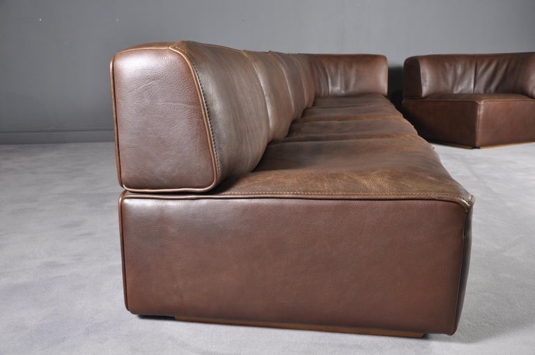De Sede DS-15 in Dark Brown Buffalo Leather, 1970s For Sale 5