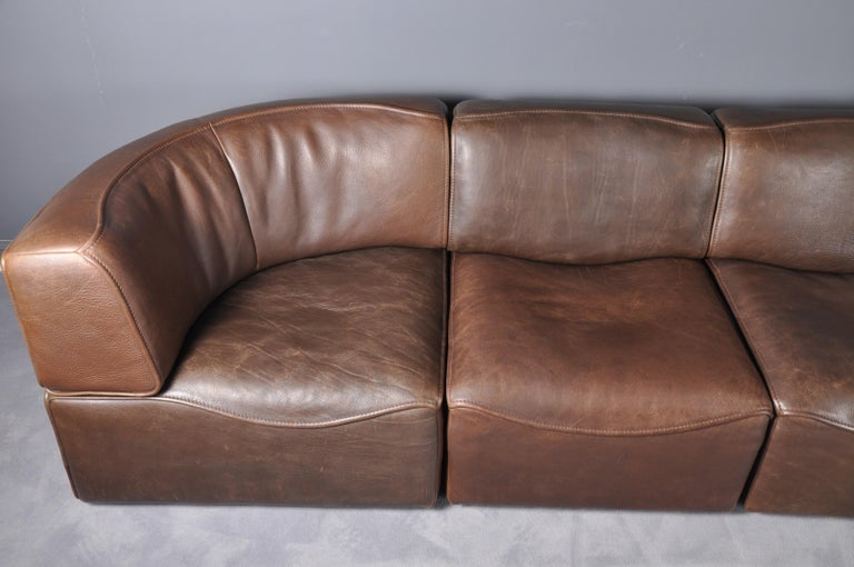 De Sede DS-15 in Dark Brown Buffalo Leather, 1970s For Sale 6