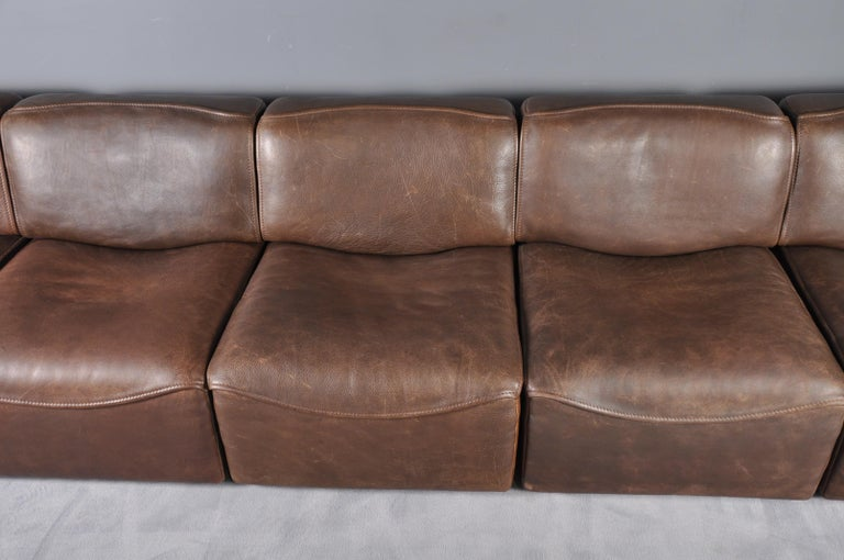 De Sede DS-15 in Dark Brown Buffalo Leather, 1970s For Sale 7