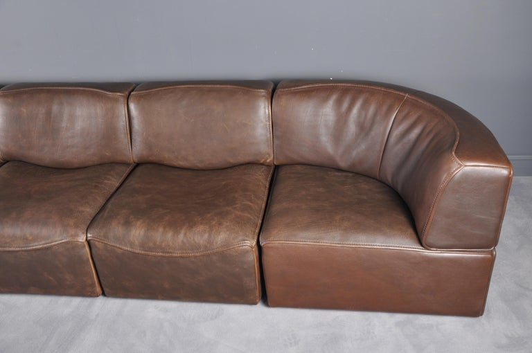 De Sede DS-15 in Dark Brown Buffalo Leather, 1970s For Sale 8