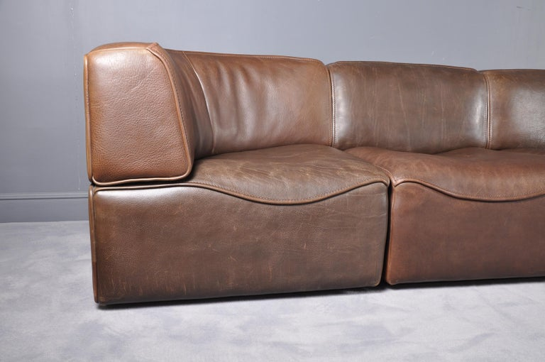 De Sede DS-15 in Dark Brown Buffalo Leather, 1970s For Sale 9