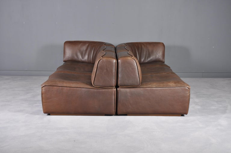 De Sede DS-15 in Dark Brown Buffalo Leather, 1970s For Sale 10