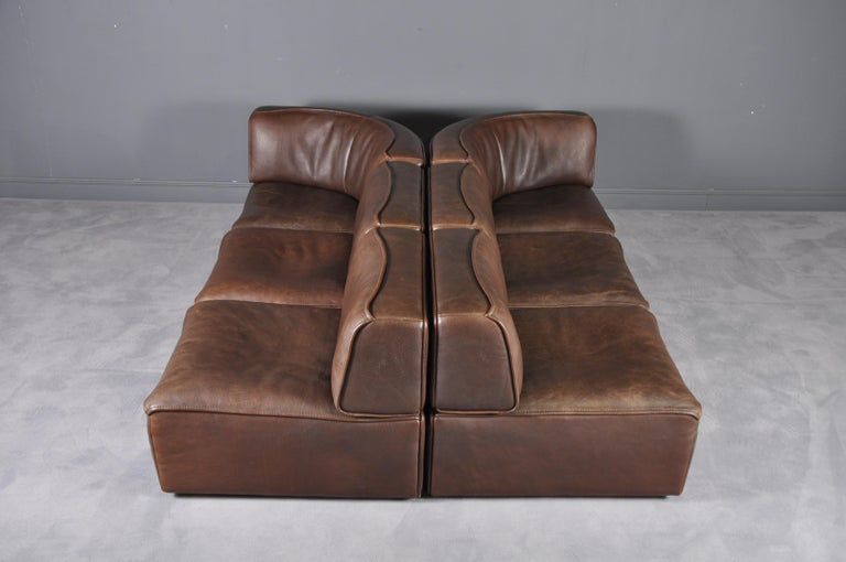 De Sede DS-15 in Dark Brown Buffalo Leather, 1970s For Sale 11