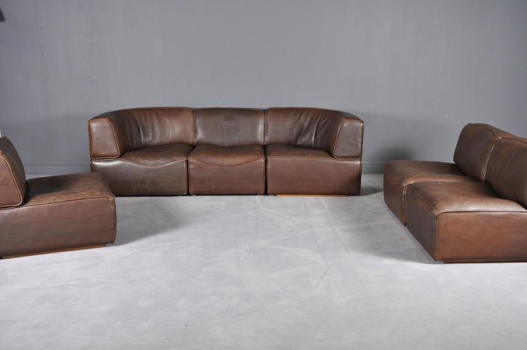 Mid-Century Modern De Sede DS-15 in Dark Brown Buffalo Leather, 1970s For Sale