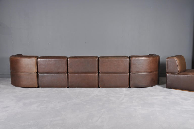 De Sede DS-15 in Dark Brown Buffalo Leather, 1970s In Excellent Condition For Sale In Bucharest, RO