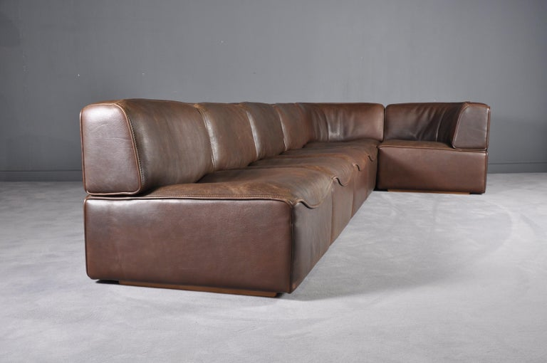 De Sede DS-15 in Dark Brown Buffalo Leather, 1970s For Sale 2