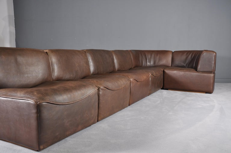De Sede DS-15 in Dark Brown Buffalo Leather, 1970s For Sale 3