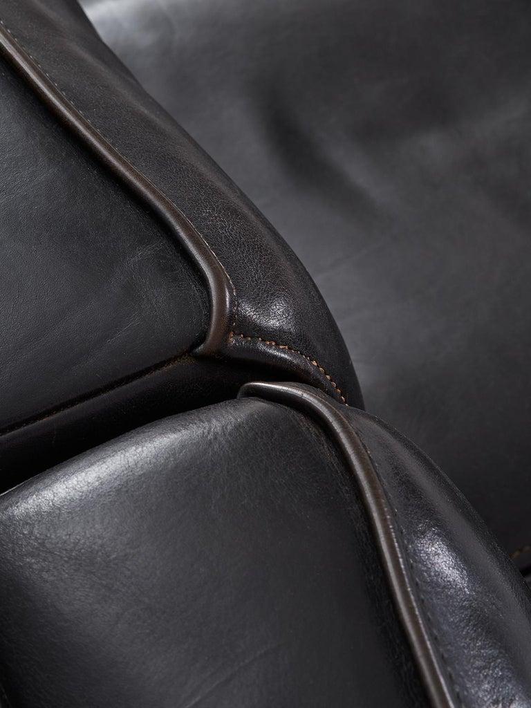 De Sede 'Ds-15' Modular Sofa in Black Buffalo Leather For Sale 2