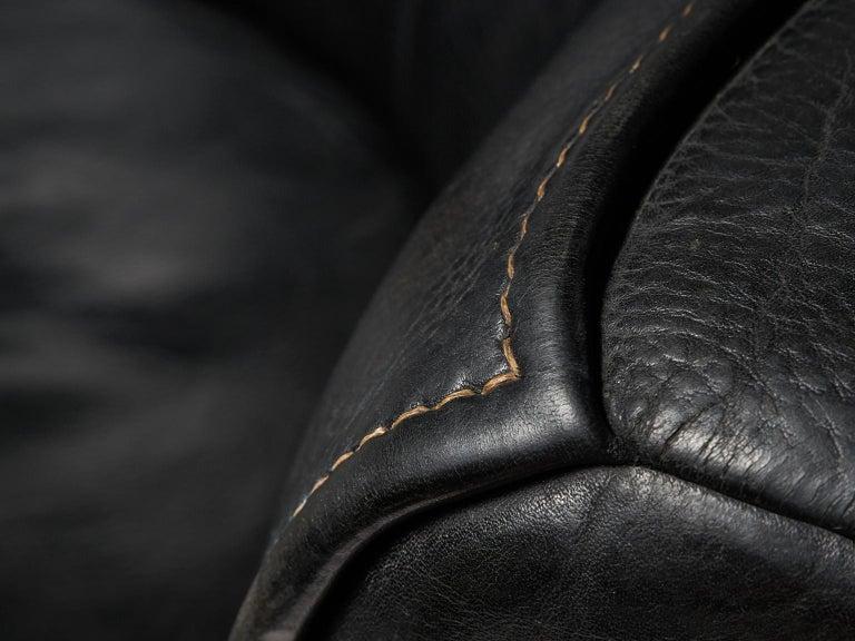 De Sede 'DS-15' Modular Sofa in Black Leather For Sale 4