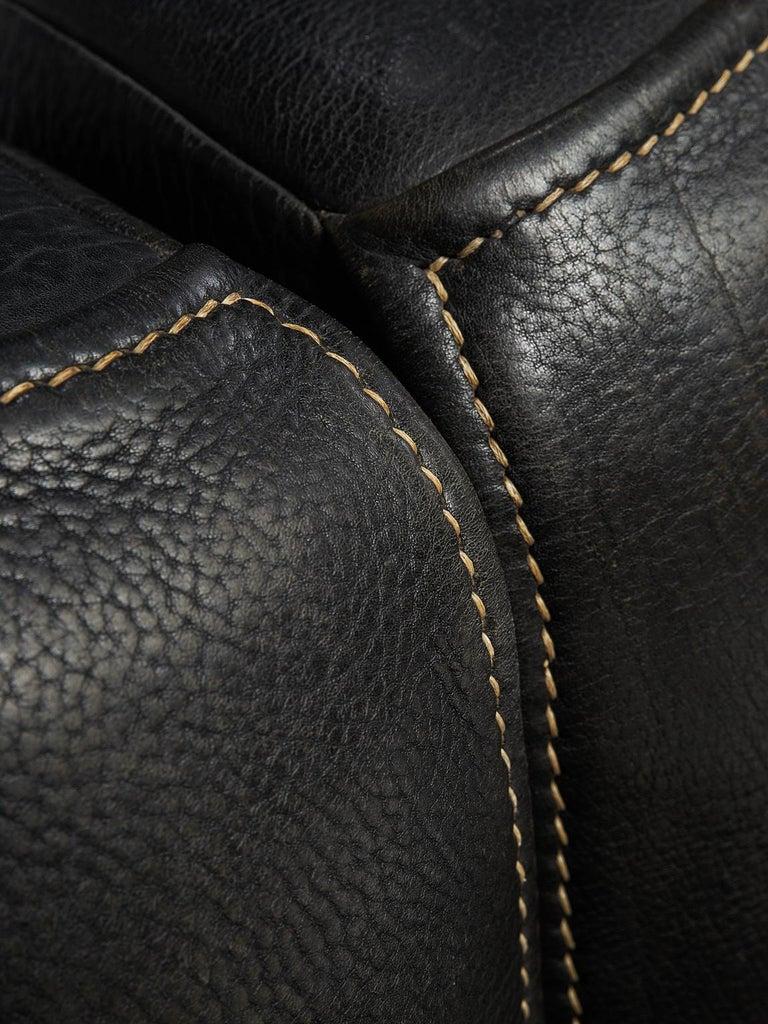 De Sede 'DS-15' Modular Sofa in Black Leather For Sale 2