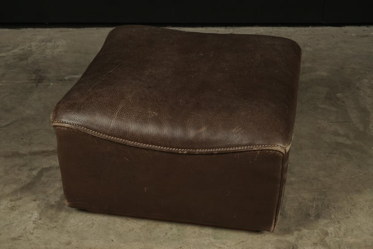Vintage De Sede 'Ds-15' Modular Sofa in Brown Buffalo Leather from Switzerland For Sale 3