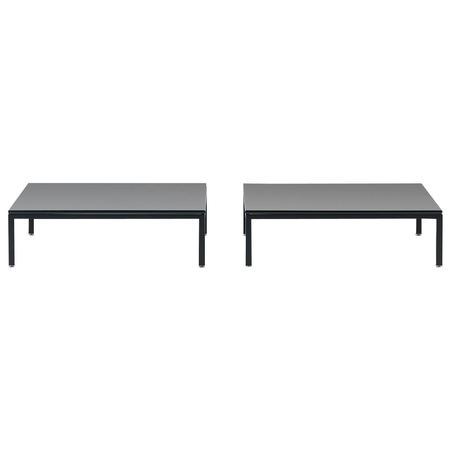 De Sede DS-159 Table with Black Top by De Sede Design Team