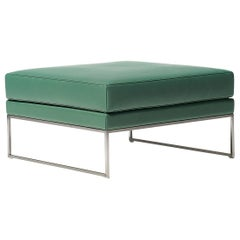 De Sede DS-160 Stool in Turquoise Leather Upholstery by De Sede Design Team