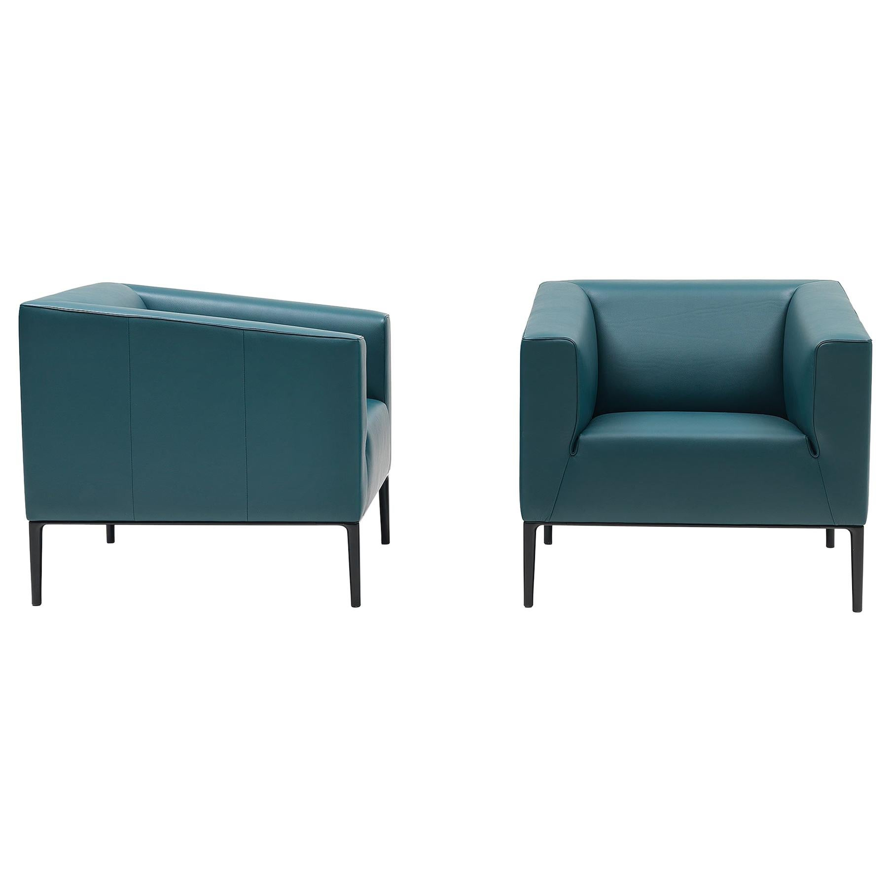 De Sede DS-161/01 Armchair in Petrol Blue Upholstery by De Sede Design Team