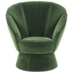 De Sede DS-163 Armchair in Velour Upholstery by Virginia Harper & Babak Hakakian