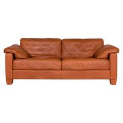 De Sede ds 17 Designer Leder Sofa Cognac Dreisitzer