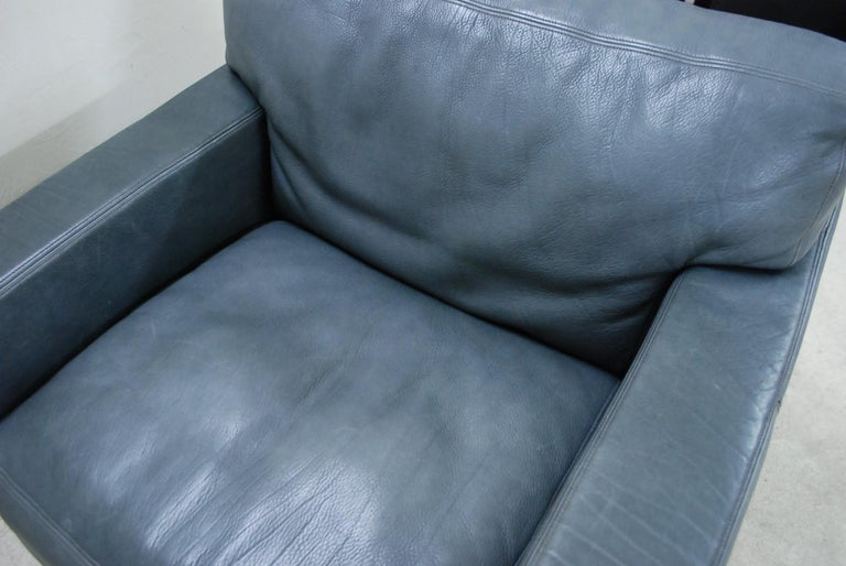 De Sede Ds 17 Pair of Grey Leather Lounge Chair Armchair For Sale 12
