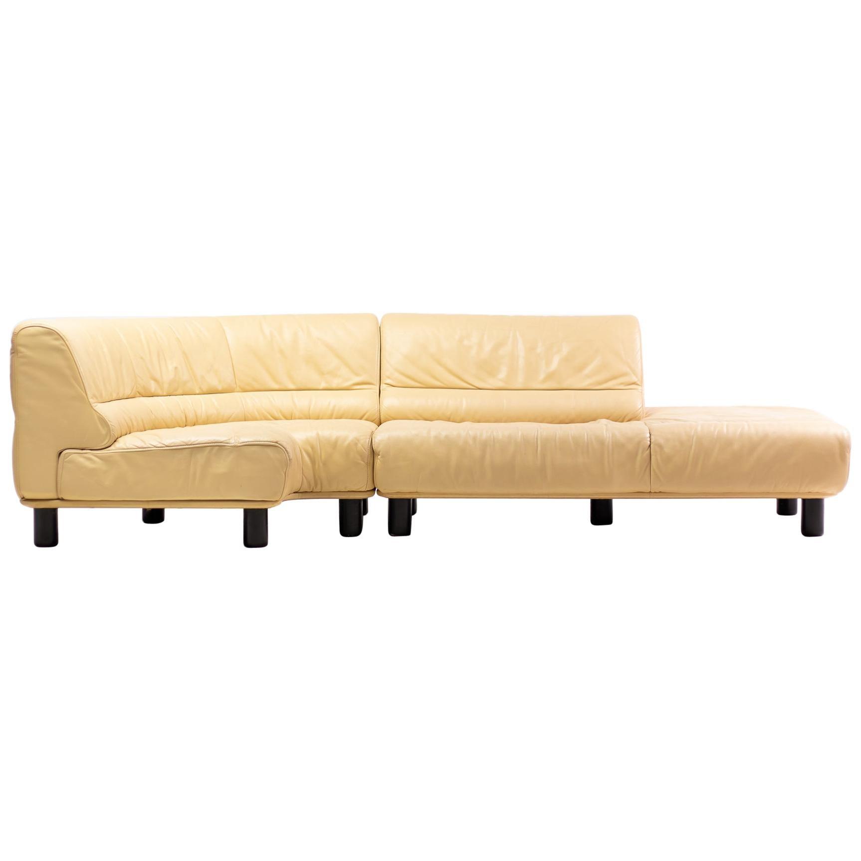 De Sede DS-18 Sofa in Biscuit Leather