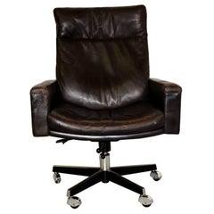 De Sede DS 201 Executive Swivel highback armchair by Robert Haussmann 1957