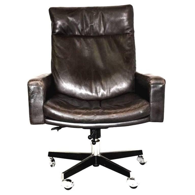 De Sede RH 201 Executive Swivel highback armchair by Robert Haussmann 1957