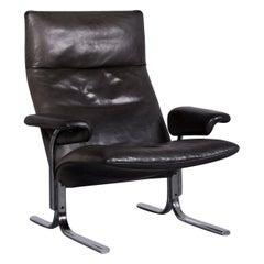 De Sede DS 2030 Designer Leather Armchair Black Genuine Leather Chair