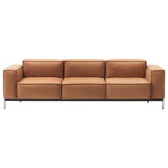 De Sede DS-21 Three-Seat Sofa in Hazel Upholstery by Stephan Hürlemann