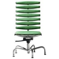 De Sede DS-2100/156 Chair in Green Upholstery by De Sede Design Team