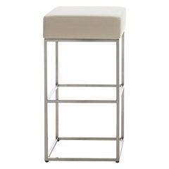 De Sede DS-218/55 Barstool in Off White Upholstery by Paolo Piva