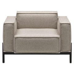 De Sede DS-22 Armchair in Grey Upholstery by Antonella Scarpitta