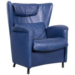 De Sede DS 23 Leather Armchair Blue One-Seat
