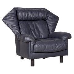 De Sede DS 24 Designer Leather Armchair Blue