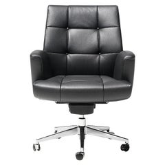 De Sede DS-257/01 Executive Armchair in Black Upholstery by De Sede Design Team