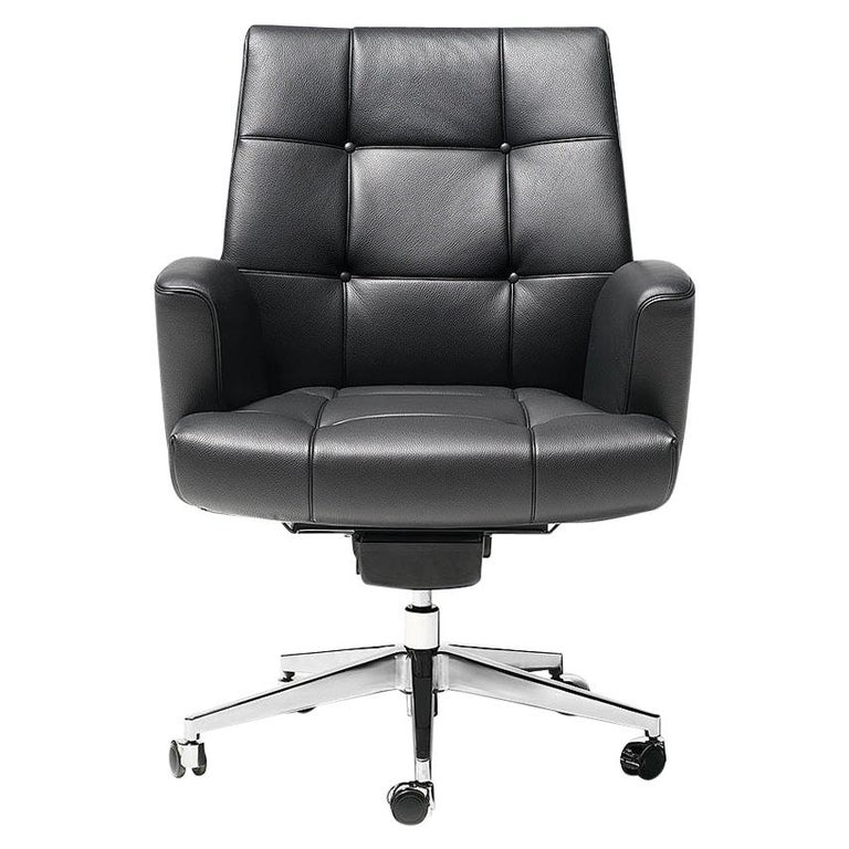 De Sede DS-257/01 Executive Armchair in Black Upholstery by De Sede Design Team For Sale