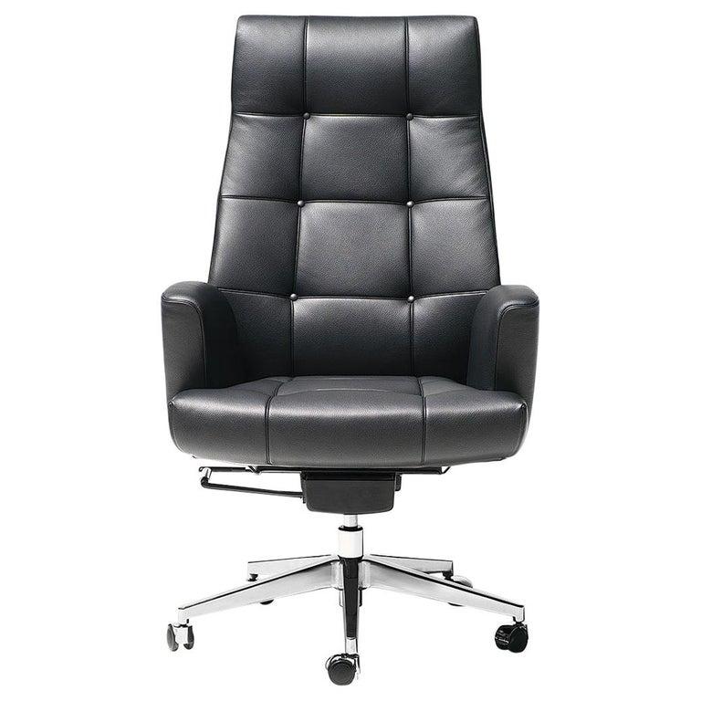 De Sede DS-257/11 Executive Armchair in Black Upholstery by De Sede Design Team For Sale