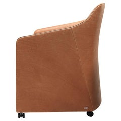 De Sede DS-279 Lounge Chair with Castors in Cuoio Leather by Christian Werner
