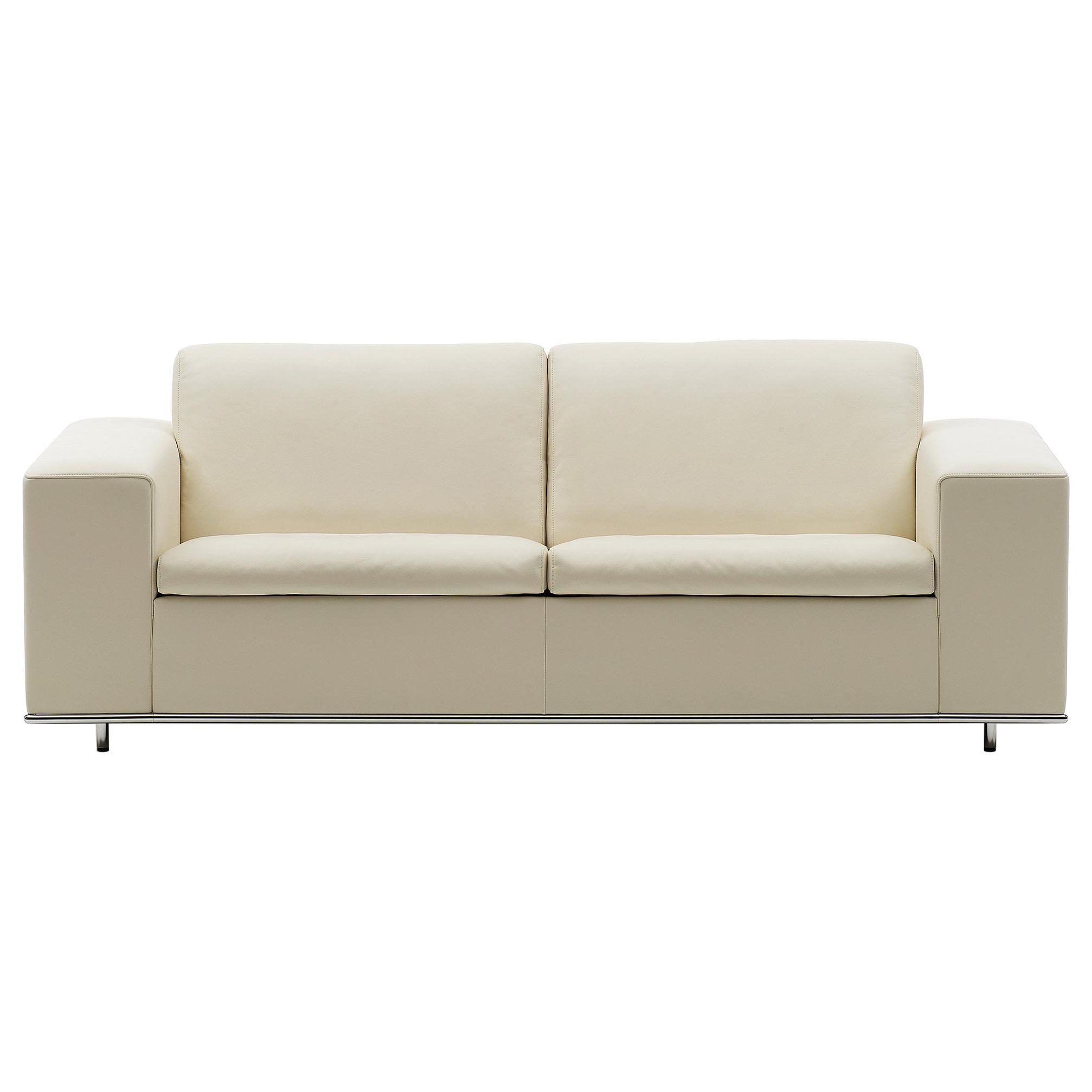 De Sede DS-3 Two-Seat Sofa in Beige Upholstery by Antonella Scarpitta