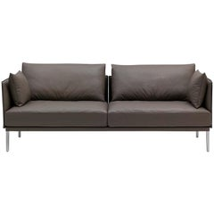 De Sede DS-333 Large Two-Seat Sofa in Schiefer Leather by De Sede Design Team