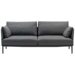 De Sede DS-333 Small Two-Seat Sofa in Grey Upholstery by De Sede Design Team
