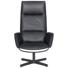 De Sede DS-344 Black Leather Armchair by De Sede Design Team