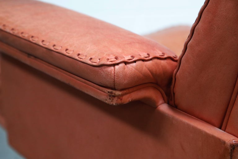 De Sede DS-35 Distressed Leather Executive Office Chair, Signed and Dated 1969 For Sale 13