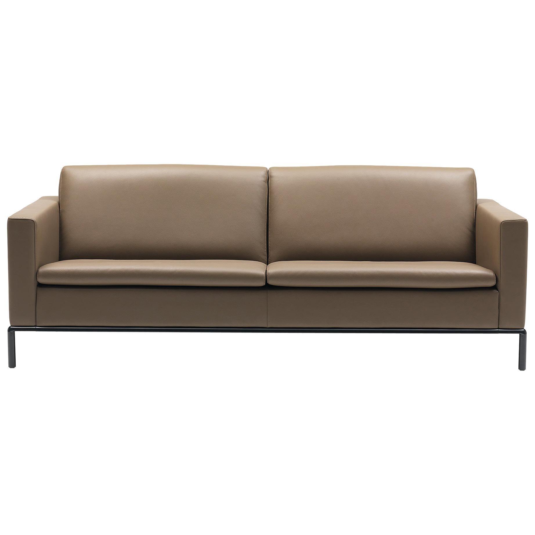 De Sede DS-4 Three-Seat Sofa in Olive Upholstery by Antonella Scarpitta