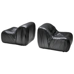 De Sede DS 41 Lounge Chair in High Quality Black Leather