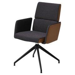 De Sede DS-414 Star Base Armchair in Ebony Upholstery by De Sede Design Team