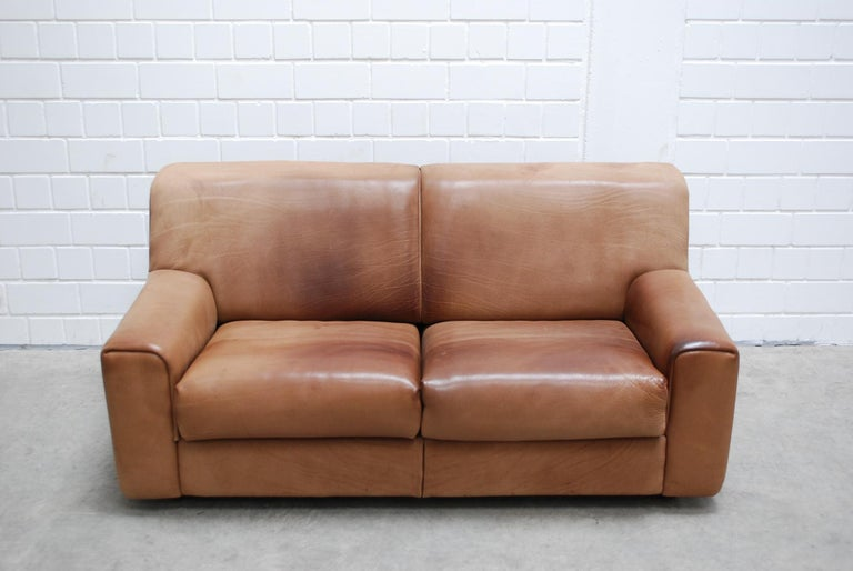 Mid-Century Modern De Sede Ds 42 Neck Leather Sofa For Sale