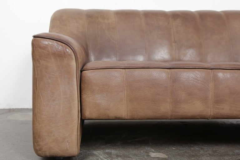 De Sede DS 44 2-Seat Sofa in Buffalo Leather, Switzerland, 1970s For Sale 5