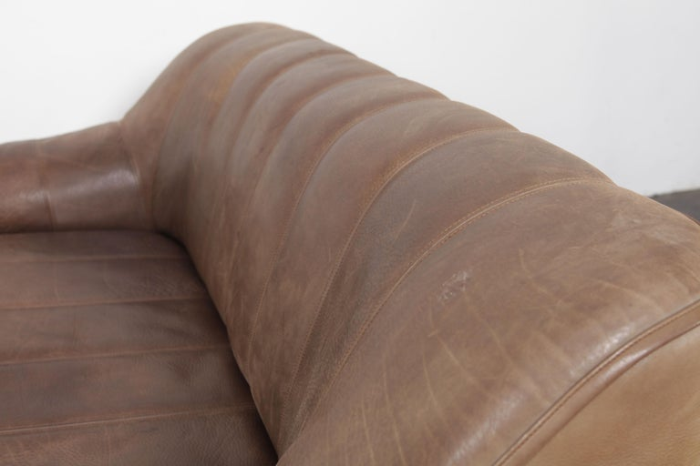 De Sede DS 44 2-Seat Sofa in Buffalo Leather, Switzerland, 1970s For Sale 9