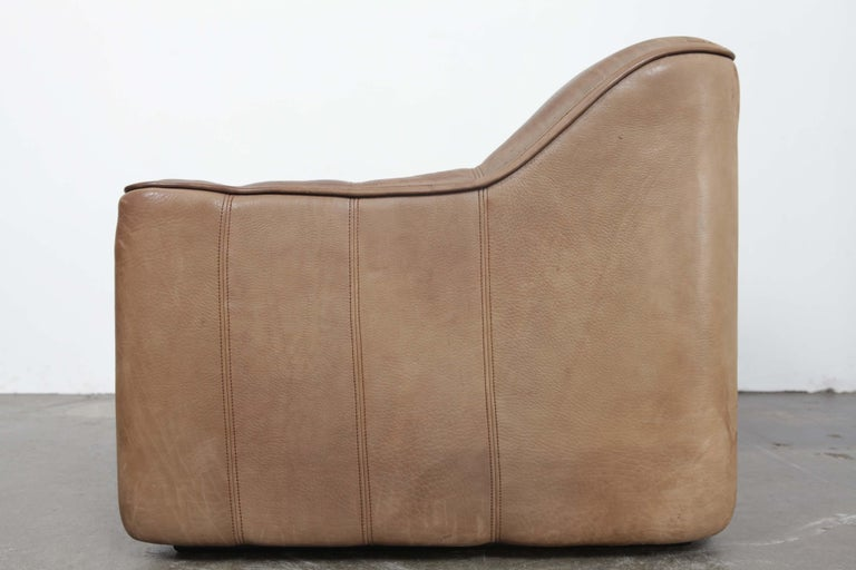 De Sede DS 44 2-Seat Sofa in Buffalo Leather, Switzerland, 1970s For Sale 11