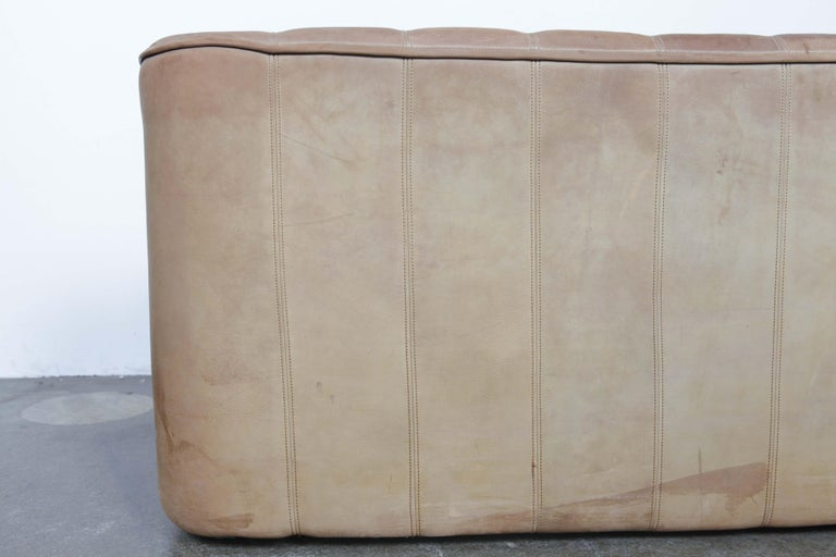Late 20th Century De Sede DS 44 2-Seat Sofa in Buffalo Leather, Switzerland, 1970s For Sale
