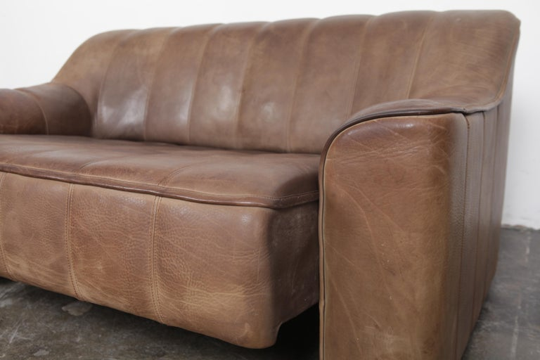 De Sede DS 44 2-Seat Sofa in Buffalo Leather, Switzerland, 1970s For Sale 2