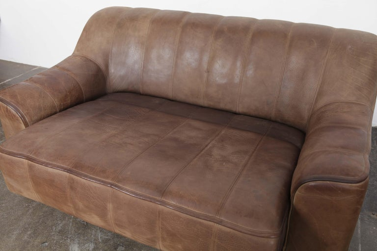 De Sede DS 44 2-Seat Sofa in Buffalo Leather, Switzerland, 1970s For Sale 3